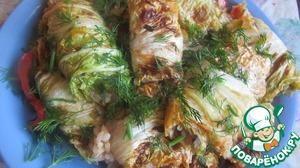 Рецепт Постные голубцы с пекинской капустой