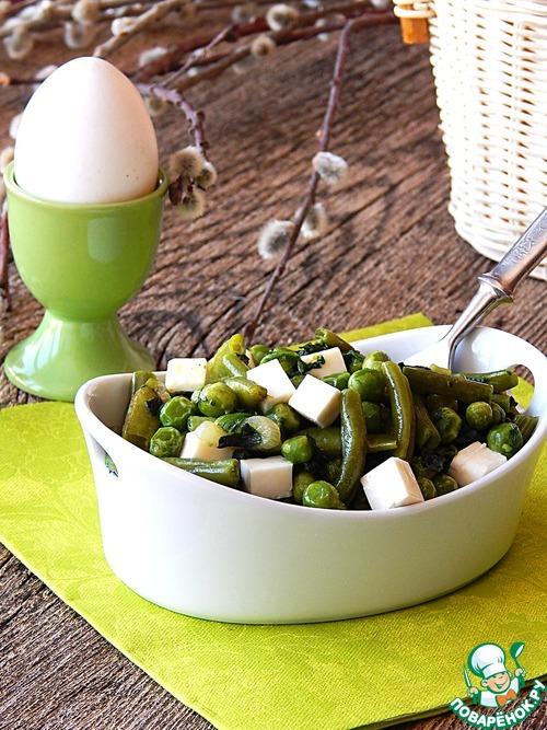 Карри из зеленых овощей с брынзой простой пошаговый рецепт приготовления с фото #8