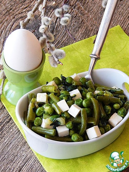 Карри из зеленых овощей с брынзой простой пошаговый рецепт приготовления с фото #9