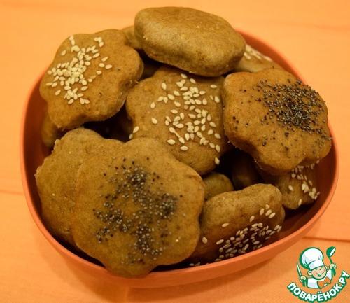 Яблочно-ржаное постное печенье вкусный рецепт приготовления с фото #10