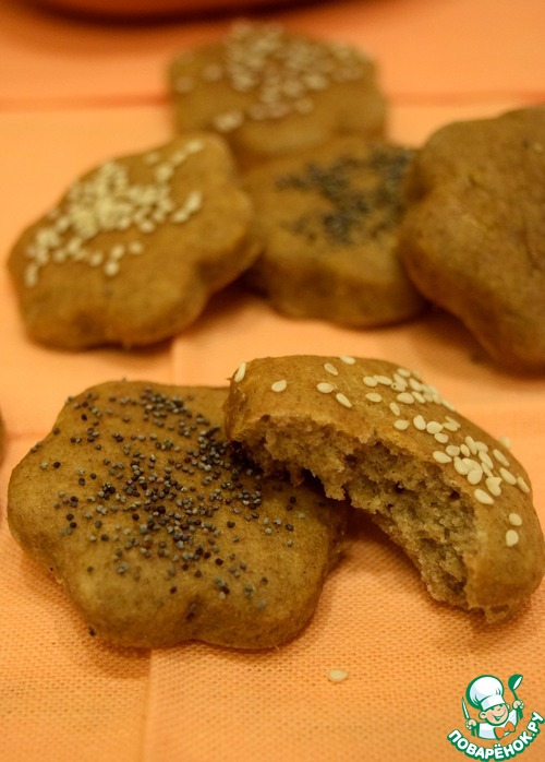 Яблочно-ржаное постное печенье вкусный рецепт приготовления с фото #11