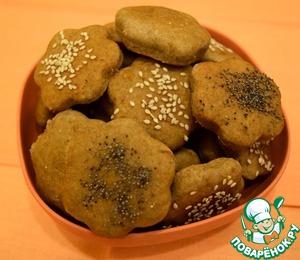 Рецепт Яблочно-ржаное постное печенье