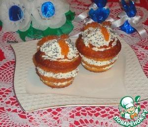 Слоеные кексы с творожно-яблочной начинкой простой пошаговый рецепт с фото как приготовить