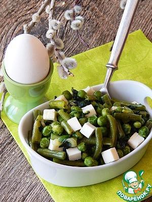 Рецепт Карри из зеленых овощей с брынзой