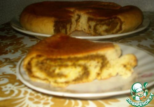 Пирог с печенью в мультиварке рецепт с фото