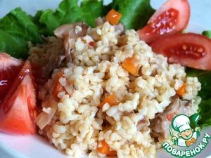 Рецепт Булгур с вешенками и овощами
