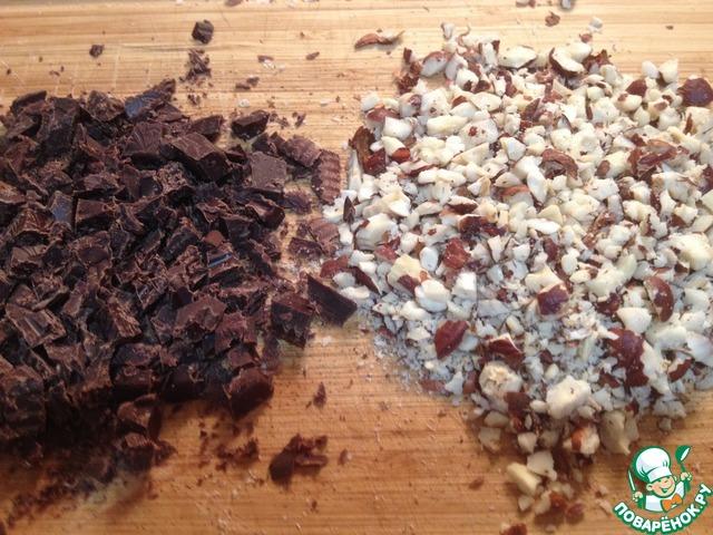 Шоколадный пирог с финиками и орехами вкусный пошаговый рецепт с фотографиями #7