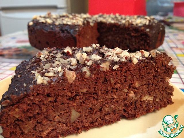 Шоколадный пирог с финиками и орехами вкусный пошаговый рецепт с фотографиями #10
