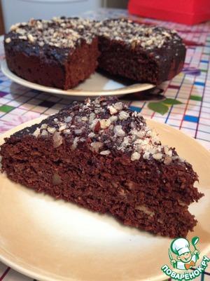 Рецепт Шоколадный пирог с финиками и орехами