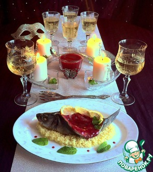 Сибас со сливовым соусом простой рецепт с фотографиями на Новый Год