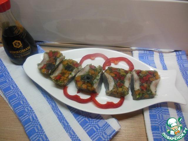 Закусочный рулет из сельди простой рецепт приготовления с фотографиями как приготовить #7