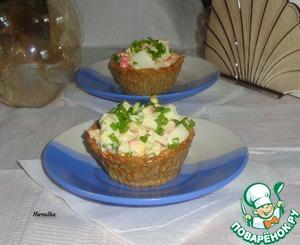 Картофельно-отрубные корзиночки с салатом домашний рецепт приготовления с фотографиями
