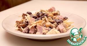 Салат из красной фасоли вкусный рецепт с фото готовим на Новый Год