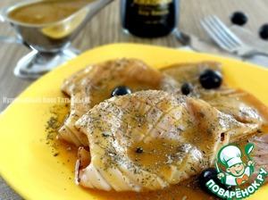 Рецепт Жаренный кальмар под тыквенно-соевым соусом