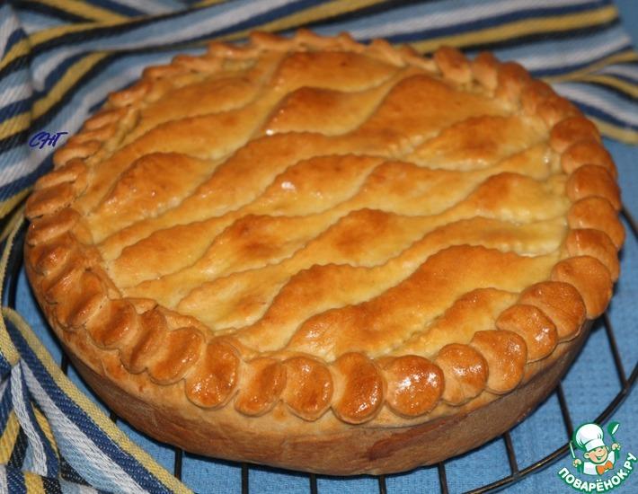 Рецепт: Пирог с картофельным пюре и рыбой