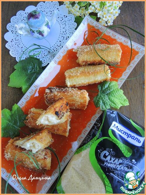 Гренки-роллы на завтрак домашний рецепт приготовления с фото готовим #7