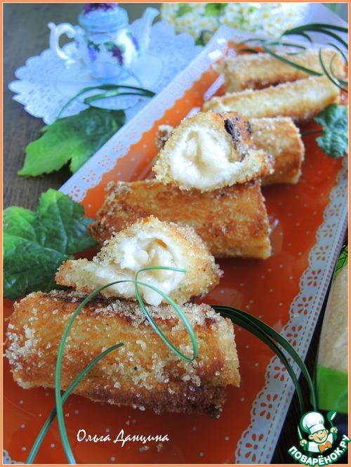 Гренки-роллы на завтрак домашний рецепт приготовления с фото готовим #6