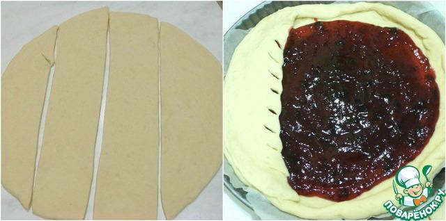 Рецепт пирога с черничным вареньем с