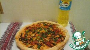 Рецепт Постная пицца с фасолью