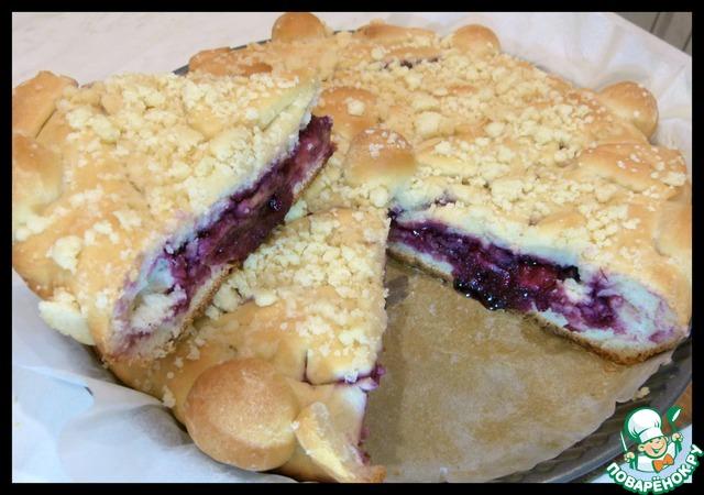 Дрожжевой пирог с черничным вареньем и штрейзелем домашний рецепт приготовления с фотографиями пошагово как приготовить #9