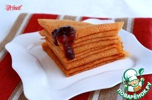 Как готовить Томатные блины вкусный рецепт с фотографиями