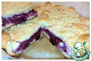 Рецепт Дрожжевой пирог с черничным вареньем и штрейзелем