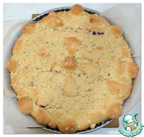 Дрожжевой пирог с черничным вареньем и штрейзелем домашний рецепт приготовления с фотографиями пошагово как приготовить #8
