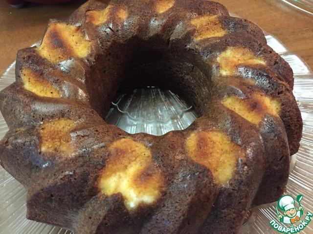 Шоколадный пирог с творожными шариками вкусный рецепт с фотографиями пошагово #7