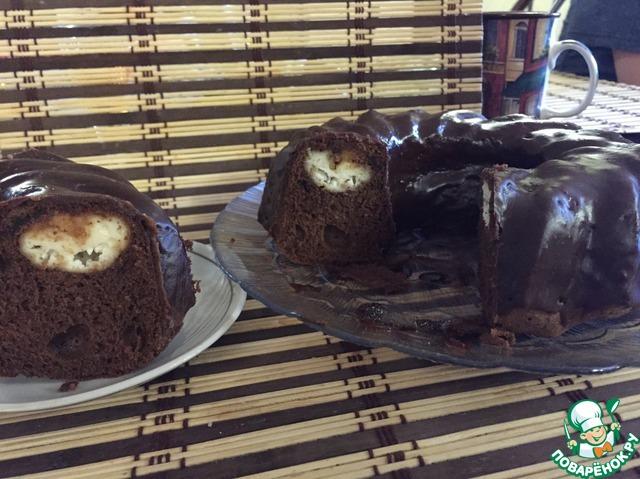Шоколадный пирог с творожными шариками вкусный рецепт с фотографиями пошагово #9