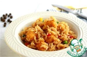 Рецепт Fried Rice and Orange Chicken (рис с курицей)