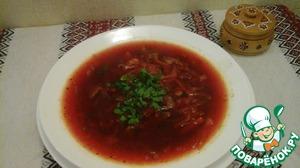 Рецепт Борщ киевский с грибами постный