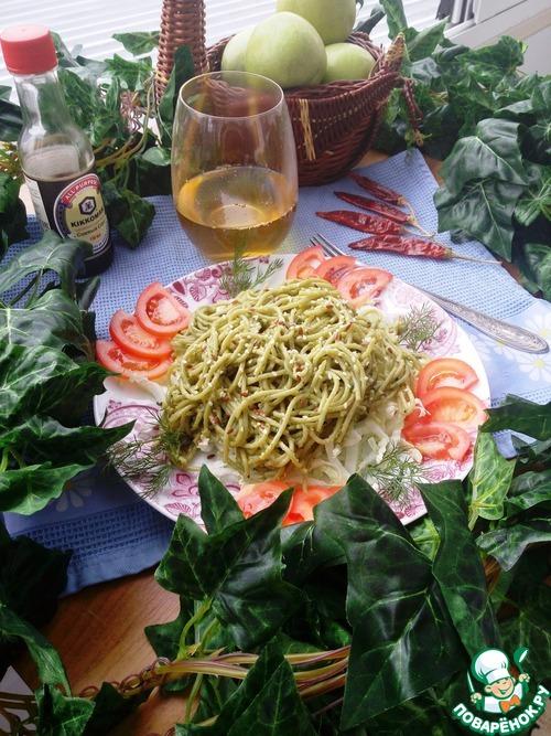"""Спагетти """"Весенние"""" вкусный рецепт с фото пошагово как готовить #8"""