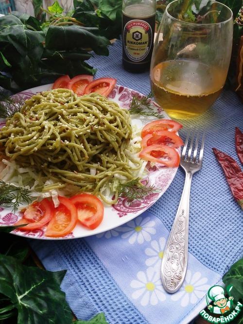 """Спагетти """"Весенние"""" вкусный рецепт с фото пошагово как готовить #9"""