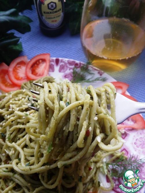 """Спагетти """"Весенние"""" вкусный рецепт с фото пошагово как готовить #10"""