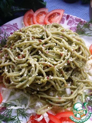 """Спагетти """"Весенние"""" вкусный рецепт с фото пошагово как готовить #7"""