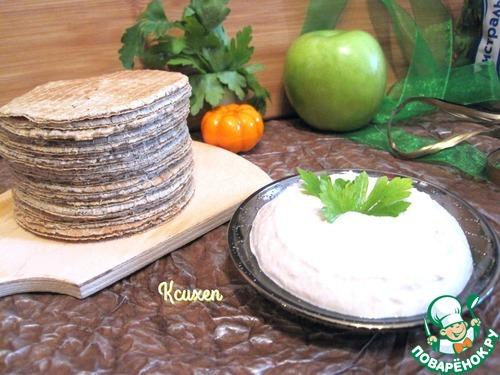 """Как приготовить Вафли """"Бородинские"""" с муссом из сельди вкусный рецепт приготовления с фото #7"""