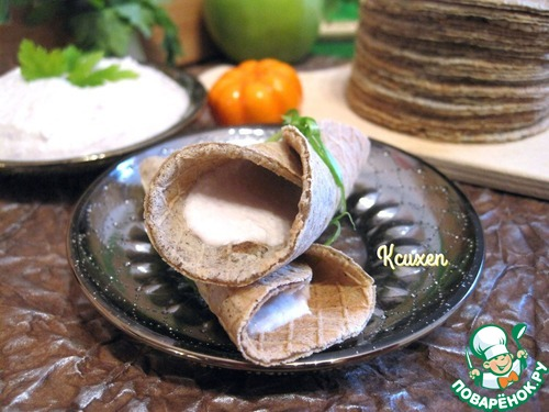 """Как приготовить Вафли """"Бородинские"""" с муссом из сельди вкусный рецепт приготовления с фото #8"""