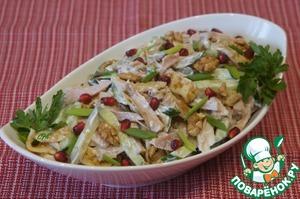 Блинный салат простой рецепт приготовления с фото пошагово