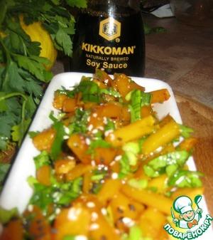 Рецепт Лёгкий салат из маринованной тыквы