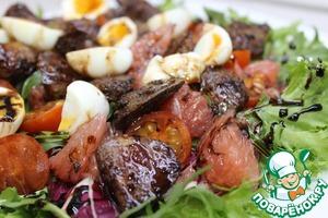 Рецепт Салат с куриной печенью и грейпфрутом