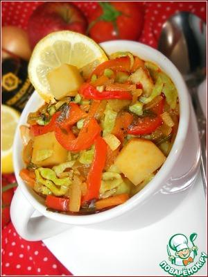 Рецепт Лапша из зеленого горошка с овощами
