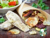 Диетическая рыба и чипсы ингредиенты