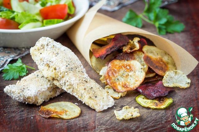 Диетическая рыба и чипсы простой рецепт приготовления с фото пошагово готовим #10
