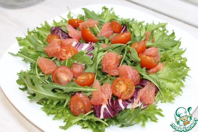 Салат с куриной печенью и грейпфрутом простой рецепт с фото пошагово #5