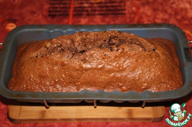 Шоколадно-миндальный кекс с малиновым джемом простой пошаговый рецепт с фото готовим #9