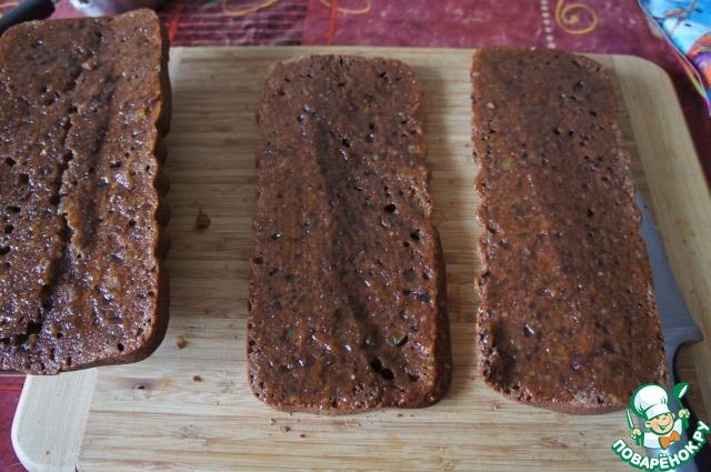 Шоколадно-миндальный кекс с малиновым джемом простой пошаговый рецепт с фото готовим #10