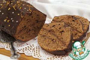 Рецепт Шоколадно-миндальный кекс с малиновым джемом