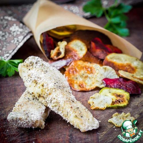 Диетическая рыба и чипсы простой рецепт приготовления с фото пошагово готовим #11