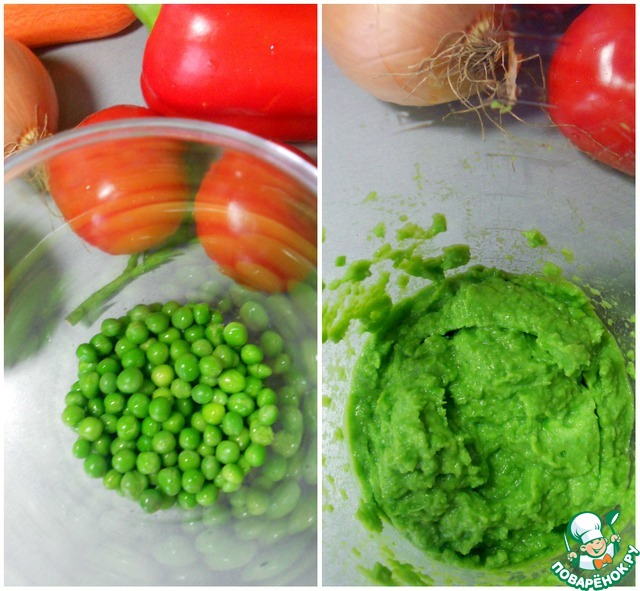 Лапша из зеленого горошка с овощами простой рецепт с фотографиями пошагово как приготовить #1