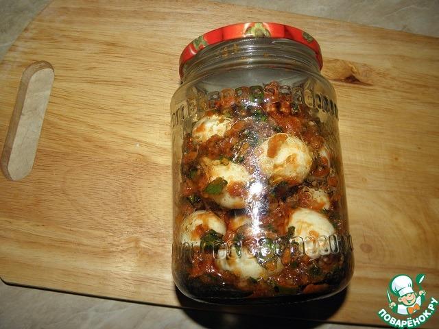 """Закуска из яиц """"Частый гость"""" простой рецепт приготовления с фото пошагово как готовить #7"""